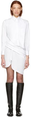 Junya Watanabe White Draped Shirt Dress $560 thestylecure.com