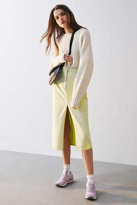 BDG Kennedy Denim Split-Front Midi Skirt