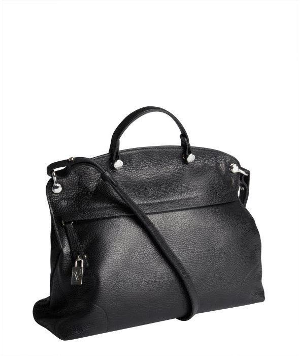Furla black leather 'Piper' large zip satchel