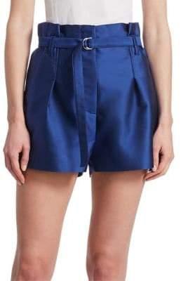 3.1 Phillip Lim Satin Origami Paper Bag Shorts