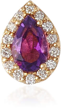 "Alison Lou 14K Gold"" Amethyst and Diamond Single Earring"