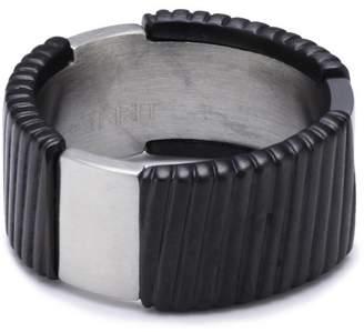 Esprit Flush Ring Stainless Steel Black