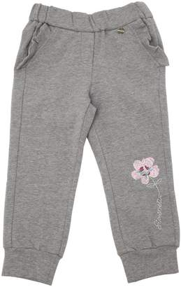 Simonetta Flower Embroidered Cotton Sweatpants