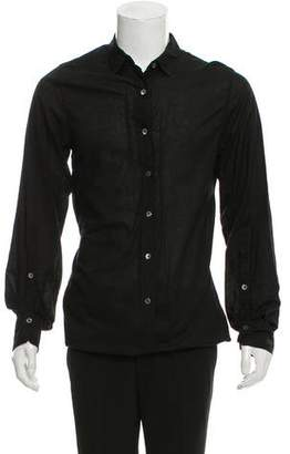 Ann Demeulemeester Longline Woven Dress Shirt