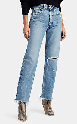 Moussy VINTAGE Women's Viola Wide Straight Jeans - Blue