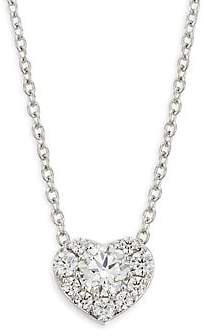 Hearts On Fire Women's Diamond & 18K White Gold Heart Pendant Necklace