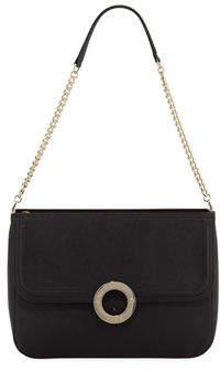 Karl Lagerfeld Paris Clarise Saffiano Leather Shoulder Bag
