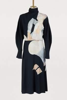 Nina Ricci Long-sleeved printed dress