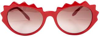 Sonia Rykiel Red Plastic Sunglasses