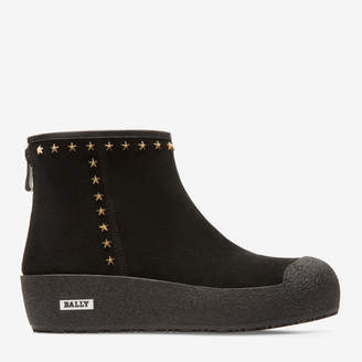 Bally Guard Ii Black, Women's calf suede curling boot in black