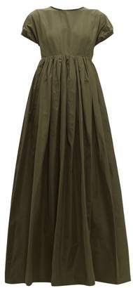Rochas Prosa Gathered Faille Gown - Womens - Green