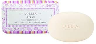Lollia (ロリア) - ロリア(LoLLIA) フレグランスソープ140g Relax(化粧石けん 全身用洗浄料 蘭、ラベンダー、バニラとハニーの甘い香り)