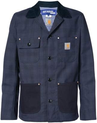 Junya Watanabe MAN Comme Des Garcons Man x Carhatt check jacket