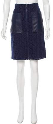 Zac Posen Lace Knee-Length Skirt