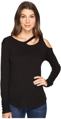LNA - Long Sleeve Slash Tee Women's T Shirt $99 thestylecure.com