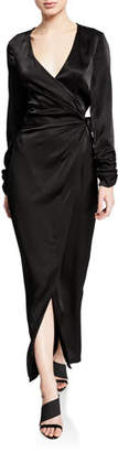 eff5de1678ce9 Donna Mizani Austen Long-Sleeve Maxi-Length Wrap Dress