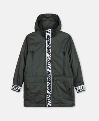 Stella McCartney Oversize Parka with Logo, Men's
