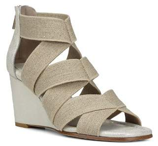 Donald J Pliner Women's Lelle-Le Elasticized Cross-Strap Wedge Sandals
