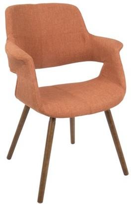Lumisource Vintage Flair Mid-Century Modern Chair in Orange