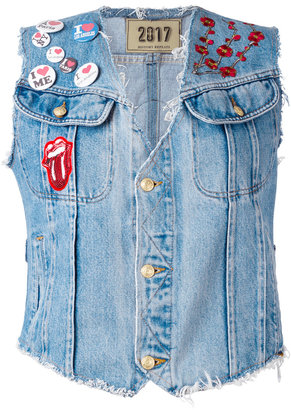 History Repeats patched denim gilet $433.91 thestylecure.com