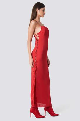 Sahara Ray X Na Kd Long Satin Lacing Dress