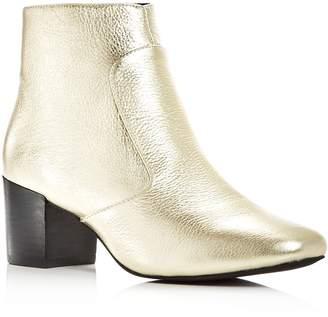 Sol Sana Women's Martina Leather Block Heel Booties