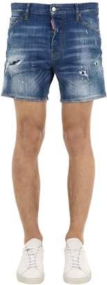DSQUARED2 Square Crotch Cotton Denim Shorts