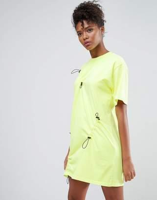 Asos Toggle Front T-Shirt Dress