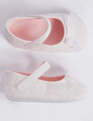 Marks and Spencer Baby Bow Christening Pram Shoes