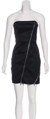 Alice + Olivia Strapless Mini Zipper Dress