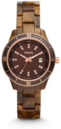 Fossil Women's ES3092 Stainless Steel Analog Brown Dial Watch