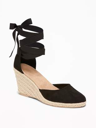 Old Navy Faux-Suede Espadrille Wedges for Women