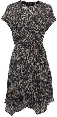 AllSaints Claria Leopard Dress