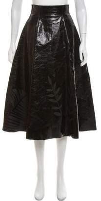 Fendi Leather Midi Skirt