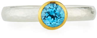 Gurhan Skittle Ring in Blue Topaz, Size 7