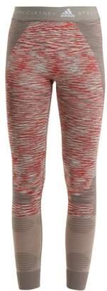 Adidas By Stella Mccartney - Yoga Seamless Space Dye Performance Leggings - Womens - Grey Multi