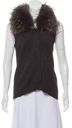 Diane von Furstenberg Lupan Fur Collar Vest
