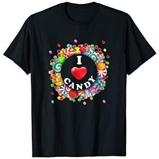 Funny I Love Candy Tshirt