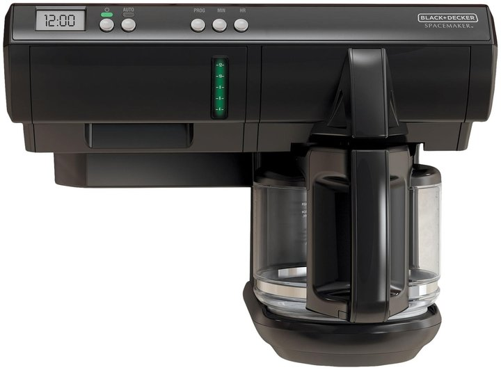 Black & Decker SpaceMaker 12-Cup Under-the-Cabinet Programmable Coffee Maker - Black