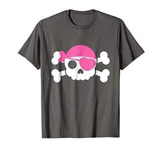 Jolly Roger Pirate Shirt Cute Pirate Halloween Costume Pink