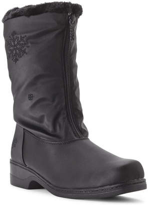 totes Black Staride Snowflake Winter Boots $70 thestylecure.com