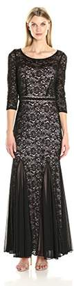 Alex Evenings Women's Lace Fit and Flare Dress