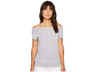 Allen Allen Short Sleeve Off the Shoulder Crew Women's Clothing