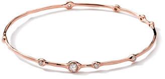 Ippolita 18K Rose Gold 9-Diamond Bangle (0.5ctw)