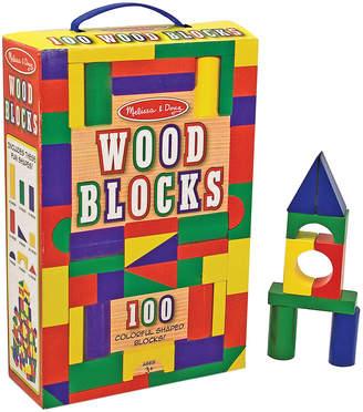 Melissa & Doug 100Pc Wooden Block Set