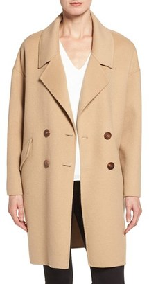 Diane von Furstenberg Double Face Double Breasted Walking Coat $598 thestylecure.com