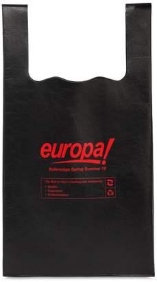 Balenciaga Supermarket Europa Printed Leather Bag