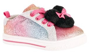 Disney Minnie Mouse Toddler Girls' Casual Pom Sneaker
