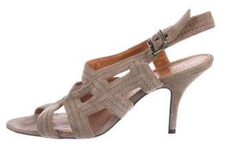 Givenchy Suede Slingback Sandals