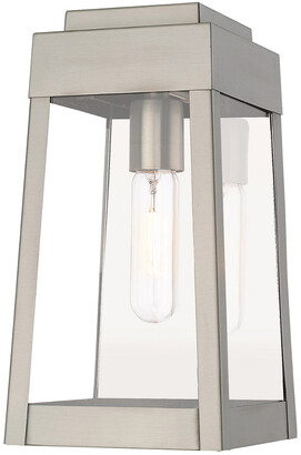 Livex Lighting Livex Oslo 1 Light Brushed Nickel Outdoor Wall Lantern